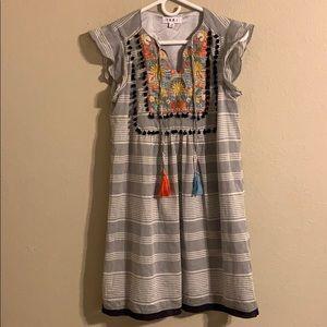 THML embroidered boho dress size xs